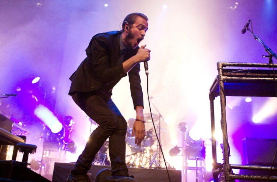 Tom Smith of The Editors performs in Amsterdam.