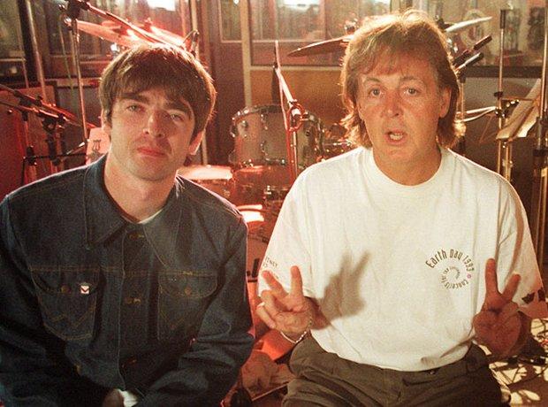 Noel Gallagher, Paul McCartney and Paul Weller