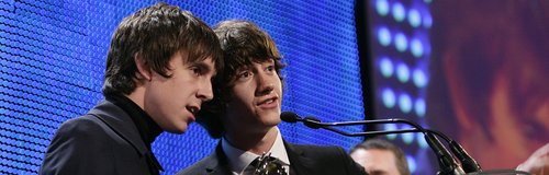 Alex Turner and Miles Kane