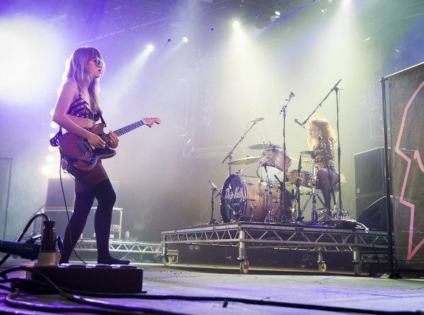 Deap Vally at Isle Of Wight Festival, 2014