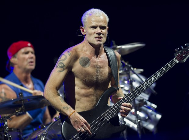 Flea of Red Hot Chili Peppers at Isle Of Wight fes