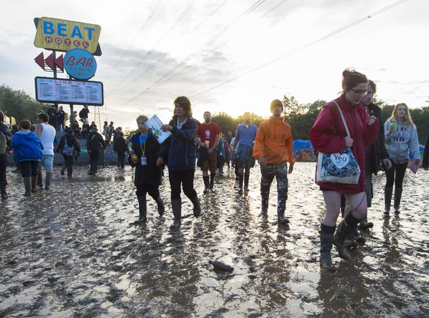Glastonbury 2014 mud