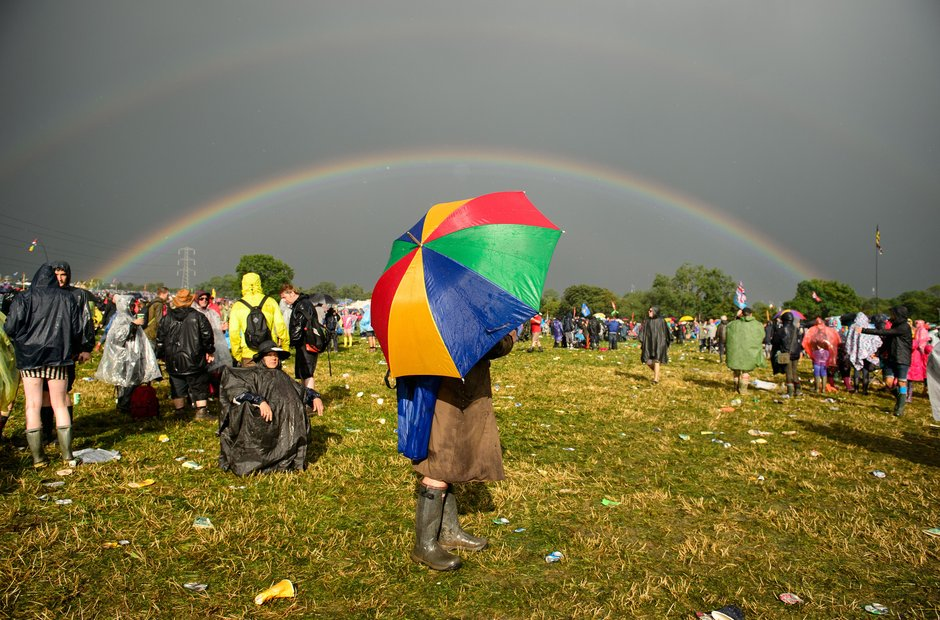 Glastonbury rainbow