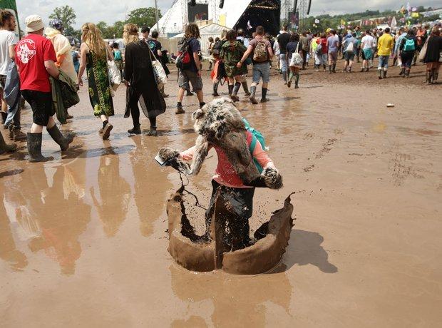 Glastonbury 2014 mud