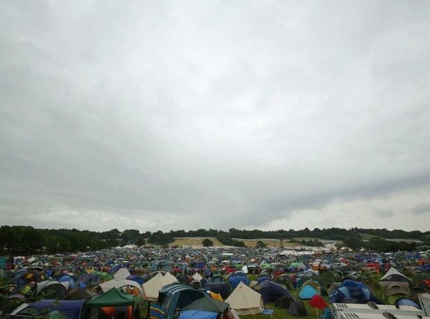 Glastonbury 2014 Thursday rain
