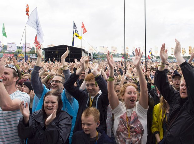 The crowd at the Other Stage as Glastonbury kicks