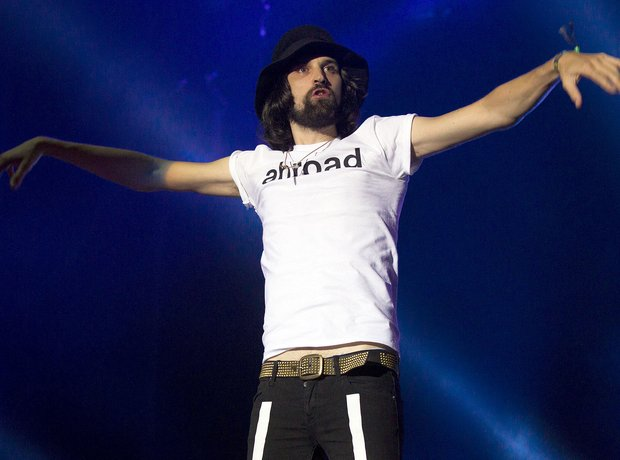 Serge Pizzorno of Kasabian Benicassim 2014