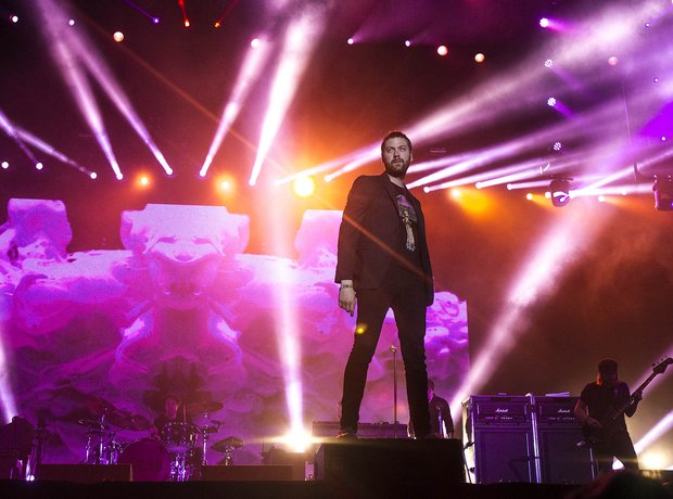 Tom Meighan of Kasabian at Benicassim 2014