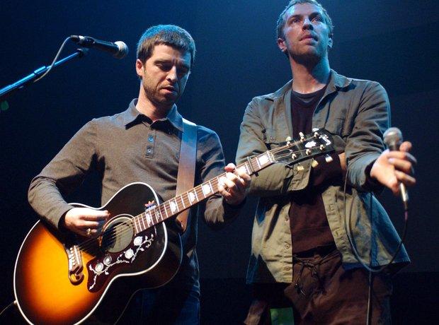 Noel Gallagher & Chris Martin