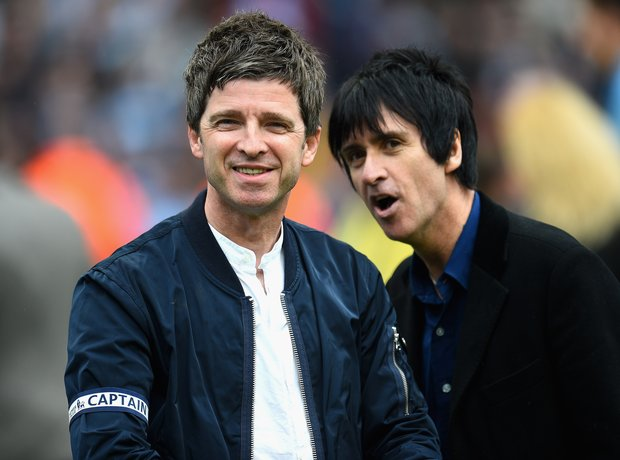 Noel Gallagher and Johnny Marr