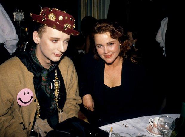 Boy George and Belinda Carlisle at the BRIT Awards