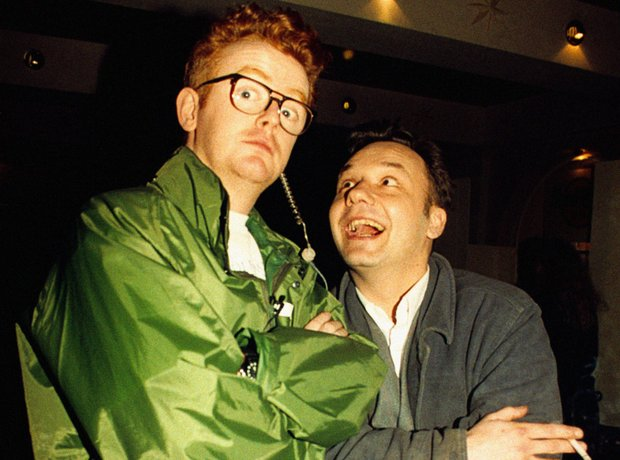 Chris Evans and Bob Mortimer at the BRIT Awards 19
