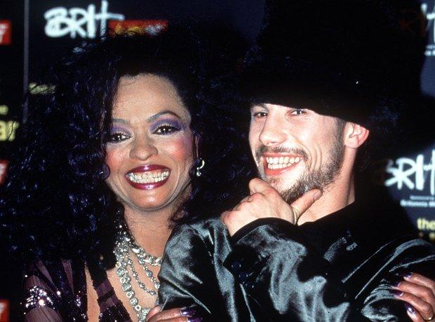 Diana Ross and Jay Kay of Jamiroquai at the BRIT A