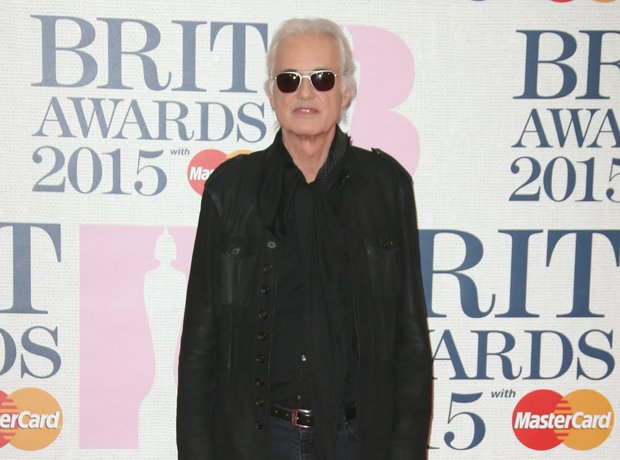 Jimmy Page BRIT Awards Red Carpet 2015