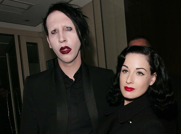 Marilyn Manson and Dita Von Teese at the BRIT Awar