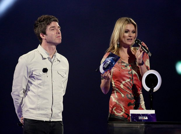 Noel Gallagher and Kate Moss at the BRIT Awards 20