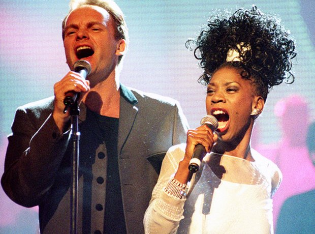 Sting and Heather Small of M People at the BRIT Aw