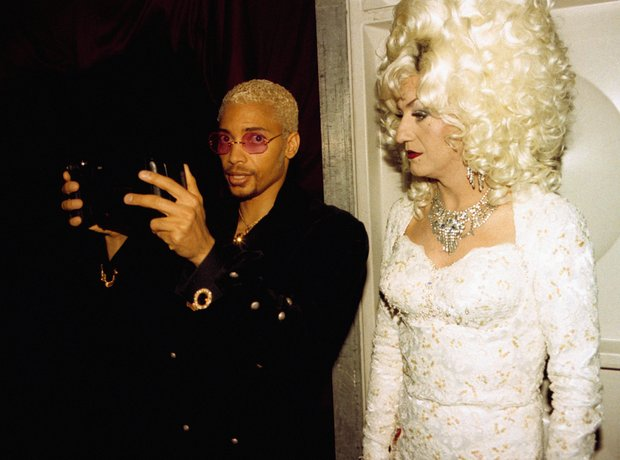 Terence Trent D'Arby and Lily Savae at the BRIT Aw