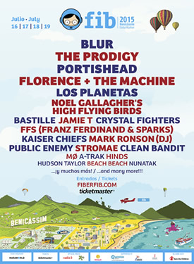 Benicassim line up 2015