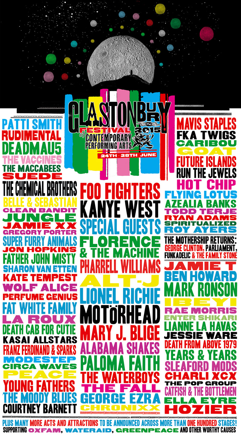 Glastonbury 2015 line up
