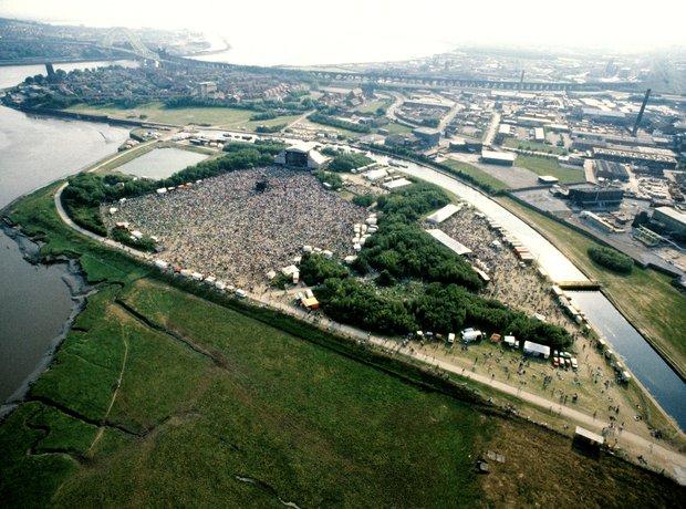 The Stone Roses Spike Island aerial shot