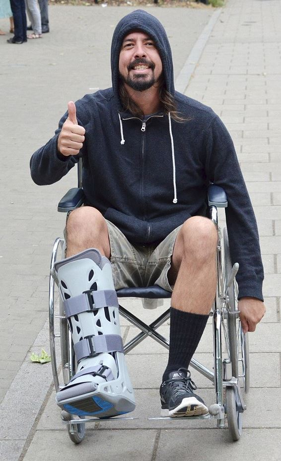 Dave Grohl in a Wheelchair