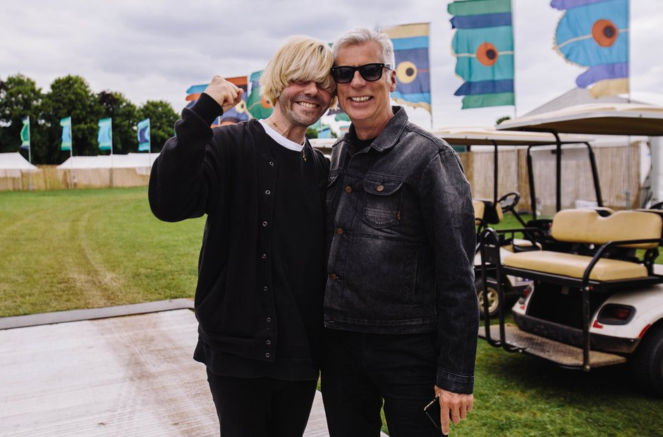John Giddings and Tim Burgess at Isle Of Wight Fes