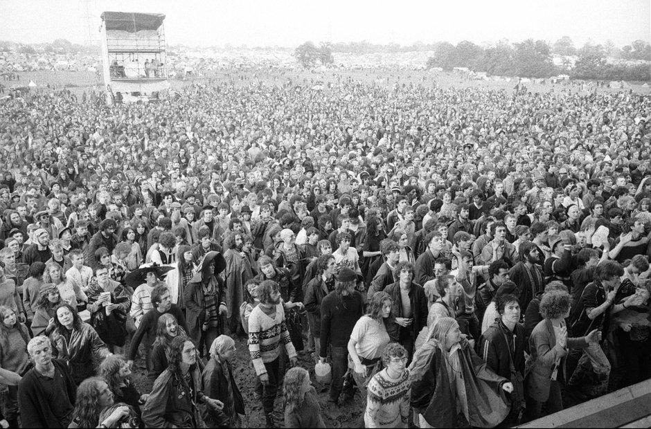 Fans at Glastonbury Festival 1982