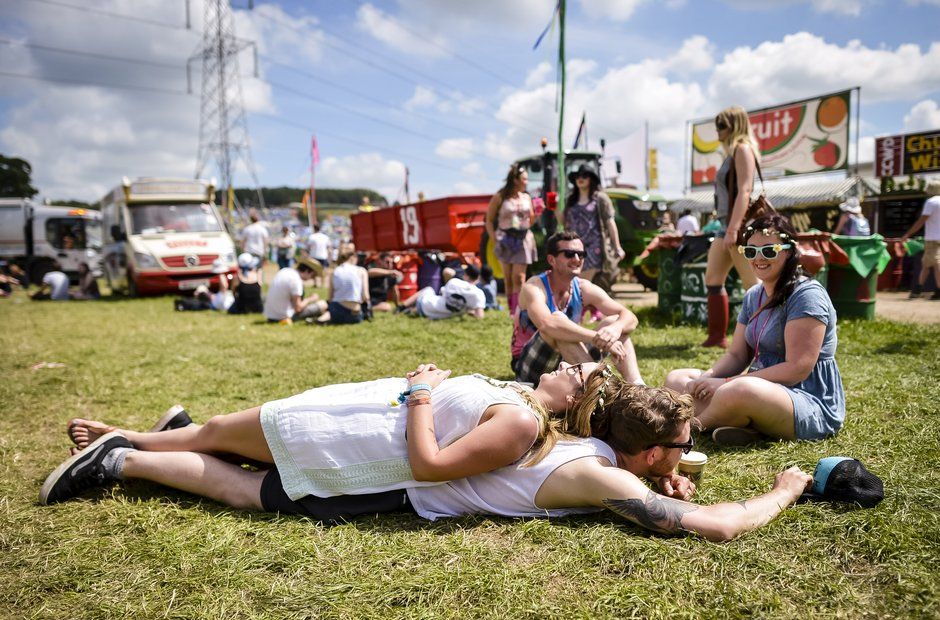 Glastonbury Line Up Update: Lying In The Sun At Glastonbury