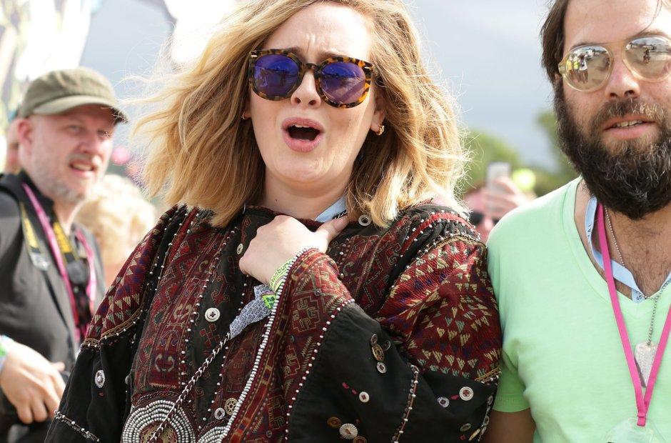 Glastonbury 2015 Saturday - Adele backstage