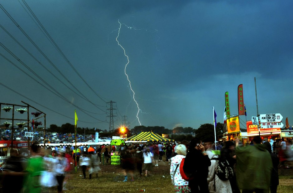 Glastonbury Festival 2009 lightning