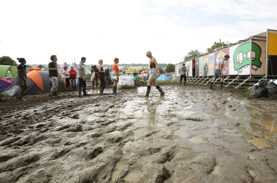 Glastonbury mud 2014