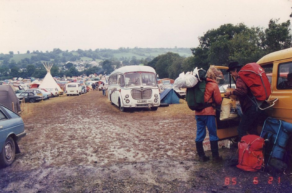Glastonbury mud 1985