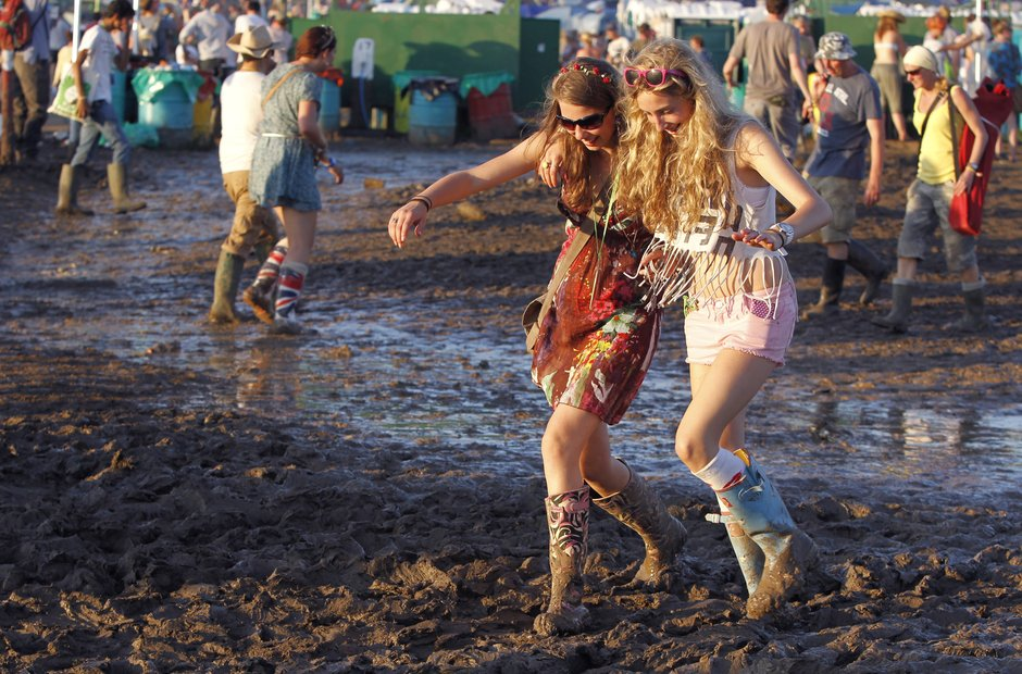 Glastonbury mud 2011