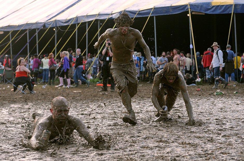 Glastonbury mud 2009