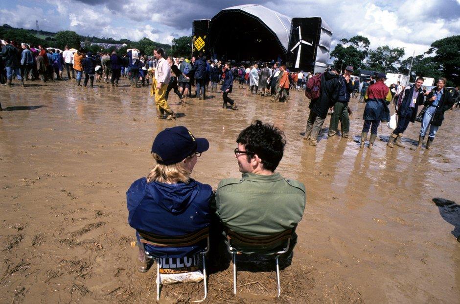 Glastonbury mud 1998