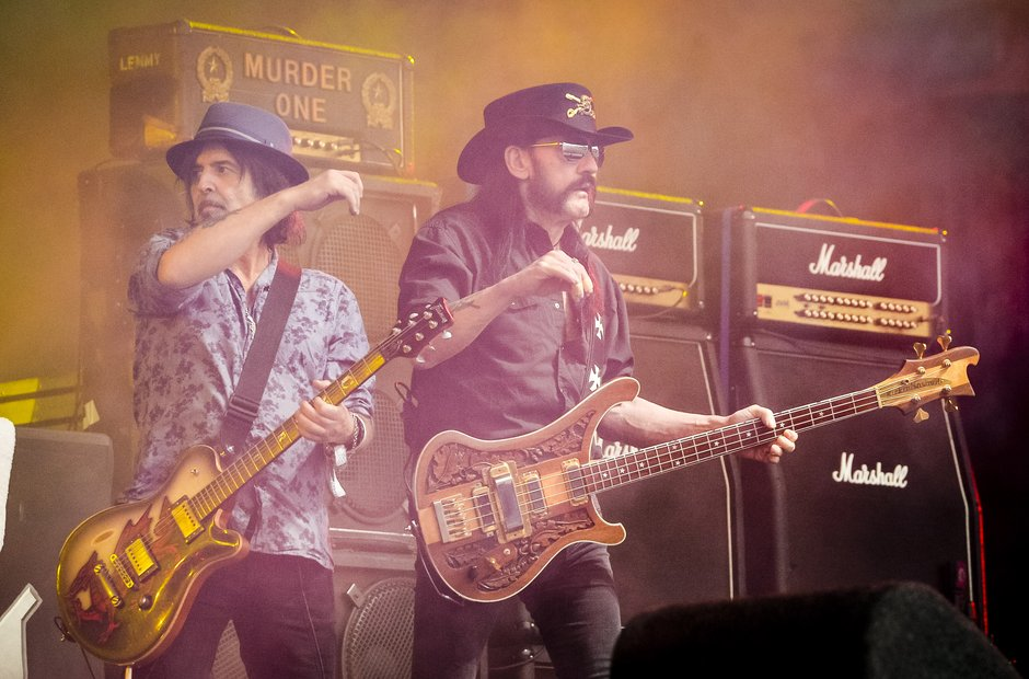 Lemmy of Motorhead at Glastonbury 2015