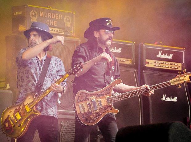 Lemmy of Motorhead at Glastonbury 2015