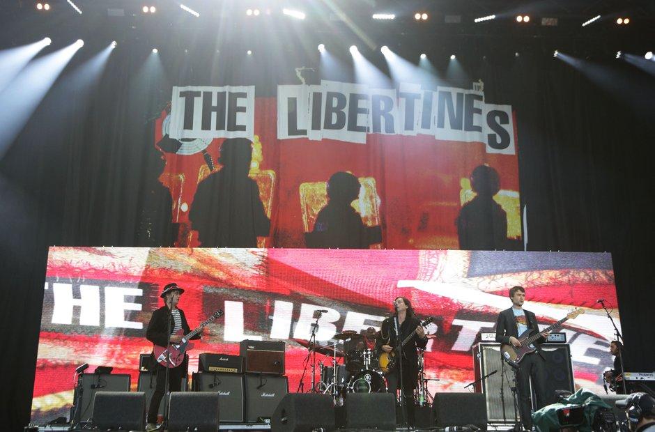 The Libertines on the Pyramid Stage Glastonbury 20