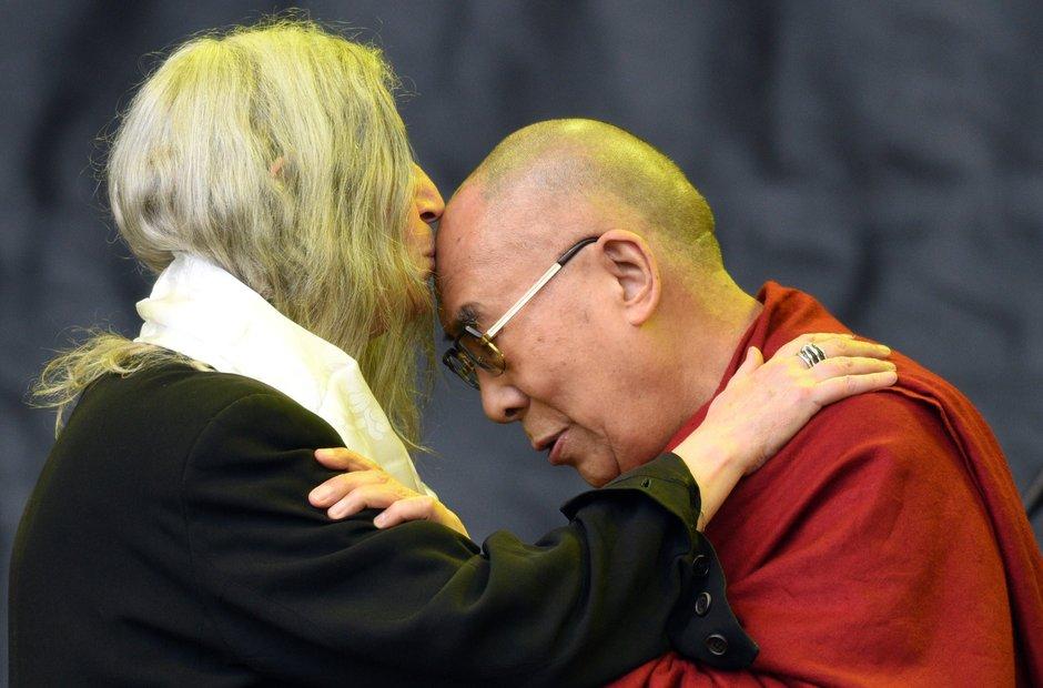 Glastonbury 2015 - Sunday: Patti Smith Dalai Lama