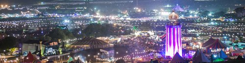 Glastonbury on Saturday night