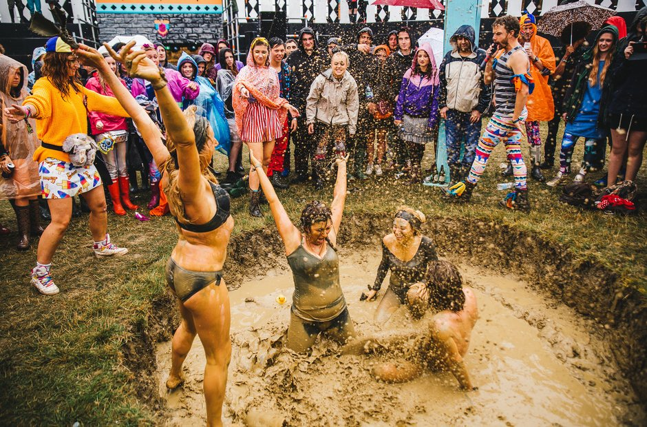 Mud Wrestling At Secret Garden Party 2015