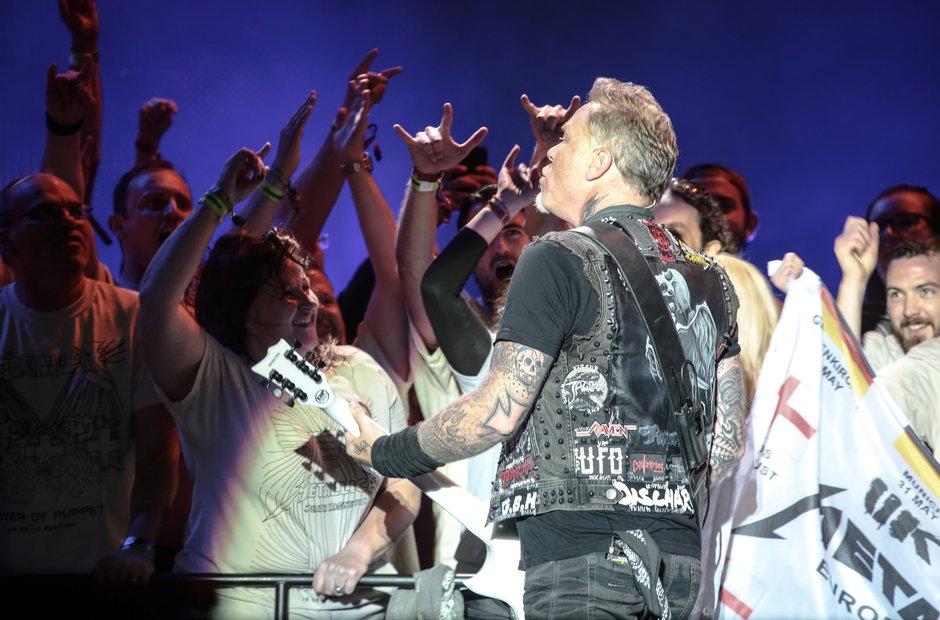 Reading Festival 2015 Saturday - James Hetfield an