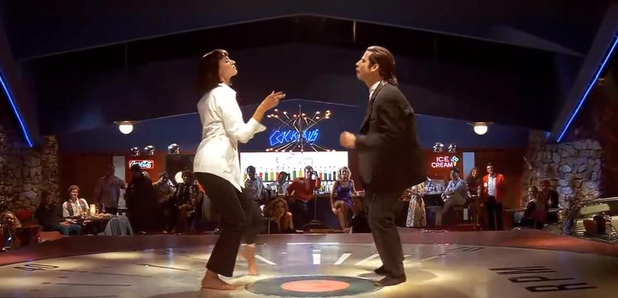 Watch When Quentin Tarantino Dad Danced On The Set Of Pulp Fiction