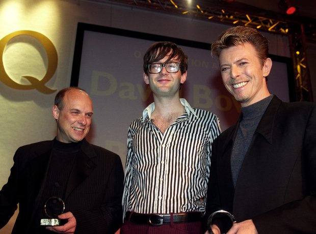 Brian Eno, Jarvis Cocker and David Bowie