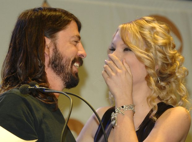 Dave Grohl and Taylor Swift