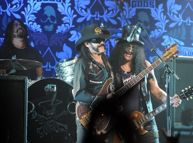 Dave Grohl, Lemmy Kilmister and Slash