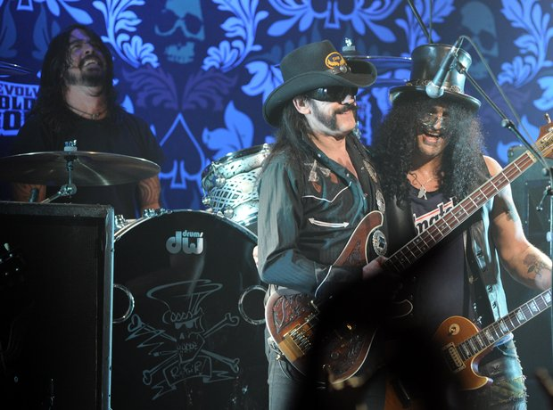 Dave Grohl, Lemmy Kilmister and Slash