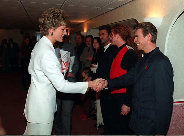 David Bowie with Diana, Princess Of Wales