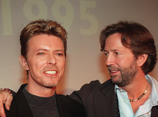 David Bowie with Eric Clapton